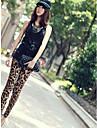 kvinners de melk silke leopard-print leggings