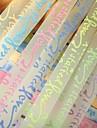 2 x 30 pcs fluorescent modele de lettre de materiaux effet origami bonne etoile (couleur aleatoire)