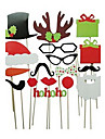 Christmas Party Accessories - # Photo Booth Props & Signs Non-personalised Red