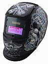 svart skull sol& AAA-batteri auto mörknande tig / MIG / MMA / mag / kr elektriska svetshjälmar
