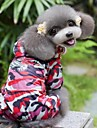 Cat / Dog Rain Coat Red Spring/Fall Camouflage Waterproof / Wedding / Cosplay