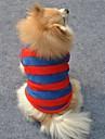 Katter / Hundar T-shirt Röd Hundkläder Vinter Stribet Bröllop / Cosplay