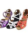 Customizable Women\'s Dance Shoes Latin Leatherette Customized Heel Purple/White/Other