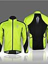 Anorak fleece -(Vert claire) de Cyclisme - Respirable/Pare-vent/Bandes Reflechissantes/Doublure Polaire  a Manches longues HommeHaute