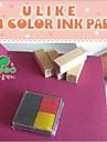 4cm x 4cm quatre couleurs scrapbooking bricolage pad d\'encre de l\'artisanat