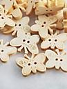 sömnad fjäril scrapbook scraft DIY trä knappar (10 st)