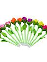 6st nya skönhet plysch tulpan blomma pennor