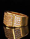 bande de luxe anneau de 18 carats pour hommes plaque or chunky aaa + cz pierre zircone bijoux cadeau cool pour les hommes de haute qualite