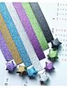 glitter pulver lyckliga stjärna origami material (20 sidor / 1 färg / förpackning slumpvis färg)