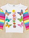 fete tricou de fluturi curcubeu imprimat maneca lunga copii haine pentru copii de iarnă antumn teuri imprimare aleator