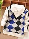 Tee-shirts Boy Damier Hiver / Printemps / Automne Melange de Coton
