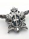 Smycken Inspirerad av Black Butler Sebastian Michaelis Animé Cosplay Accessoarer Brosch Vit Konstädelstenar Man