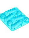 Titonic is mögel silikon isbitar bricka pudding gelé mögel 5.5x6.28x1 tum