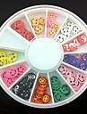 12 soorten fimo slice lachend gezicht serie nail art decoratie (willekeurig patroon)