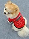 Katter / Hundar T-shirt Röd Hundkläder Sommar Hjärtan