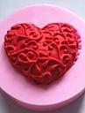 hjärtformade fondant tårta choklad silikonform kaka dekoration verktyg, l4.8cm * w4.8cm * h1.2cm
