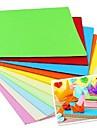 100 st doft papercranes origami material 7 * 7cm (8color / förpackning slumpvis färg)