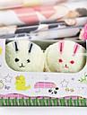 födelsedagspresent kanin form fiber kreativa handduk (slumpvis färg) (2 st / set)