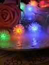 20-ledda 4m vattentät jul dekoration snö pompon rgb ljus ledde sträng ljus (220V)