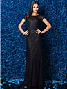 Coloană / Teacă Bijuterie Lungime Podea Dantelă Bal Seară Formală Gală Elegantă Rochie cu Dantelă de TS Couture®