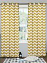 designer två paneler geometrisk bruks sovrum polyester panelgardiner draperier