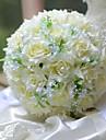 """Flori de Nuntă Rotund Trandafiri Buchete Nuntă Mătase 9.84""""(Approx.25cm)"""