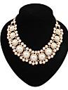 Women\'s Elegant Layers Pearls Bib Statement Necklace