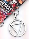 Smycken Inspirerad av Naruto Hidan Animé Cosplay Accessoarer Halsband Svart / Silver Legering Man