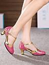 modern dans skor kvinnors höga klackar cuban heel läder spänne dansskor (fler färger)