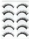 5 nouvelles paires d\'aspect naturel noir longue epaisse oeil faux cils cils cils pour les extensions des yeux