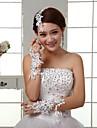 Wrist Length Fingertips Glove - Lace/Silk Bridal Gloves
