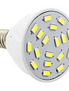 daiwl E14 4w 18xsmd 5730 280lm 5500-6500k kallt vitt ljus ledde spotlights med pvc skal (ac 220v)