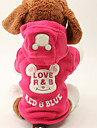 Dog Hoodie Black / Rose Spring/Fall Letter & Number / Cartoon Keep Warm