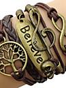 leather Charm BraceletsFashion Leather Multilayer Believe Wrap Bracelet inspirational bracelets Jewelry