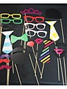 22 Piece Card Paper Photo Booth Props/Party Fun Favor Wedding