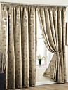 Two Panels Geometric Floral Botanical Beige Blue Ivory Purple Red Khaki Curtains Drapes