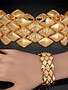Big trapu en or 18 carats plaque platine bracelet swa strass cristal bijoux de haute qualite de luxe topgold