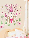 väggdekorationer Väggdekaler, tecknad disney princess slott pvc väggdekorationer