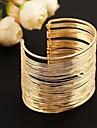 moda pulseira de metal manguito (ouro&prata)