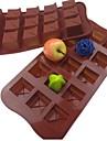 15 håls kvadratisk form cake is gelé choklad formar, silikon 21 × 10,5 × 2,5 cm (8,3 × 4,1 × 1.0inch)
