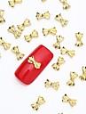 50st 3d guld nagel konst smycken legering slice gyllene stud skinande fluga nit för nageldesign