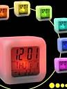 7 färgrik blixt berörings lampor klocka