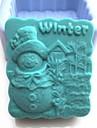 bonhomme de neige de l\'hiver outils shaoed gateau de chocolat fondant silicone moule a cake de decoration, l8.1cm * * w7.3cm h4cm