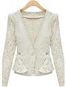 das mulheres weimeijia® lapela pescoco tudo combinando casaco de linho