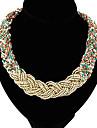 le temperament de la mode collier declaration elegance de perles miss femmes
