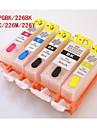 bloom® pgi225bk-226bk-226c-226-226y påfyllningsbar bläckpatron till Canon Pixma mg8120 / 6120/5220/5120/5210 (5 färg 1set)