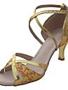 Chaussures de danse (Or/Noir/Argent) - Non personnalisable - Talon aiguille - Similicuir/Paillette - Salle de bal/Danse latine/Salsa