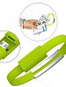bärbara handleden armband laddning micro usb datakabel för Samsung s3 / s4 / htc sony och andra (blandade färger)