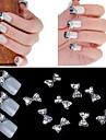 10st 3d 3d legering spik klistermärke manikyr inläggningar diamant Super Flash rosett nail art dekorationer