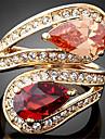 Inele Afirmatoare Zirconiu Zirconiu Cubic 18K de aur imitație de diamant Aliaj La modă bijuterii de lux Culoare ecran Bijuterii Petrecere